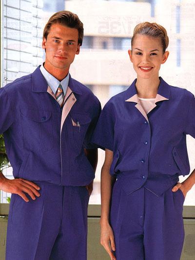 夏季紫色工作服