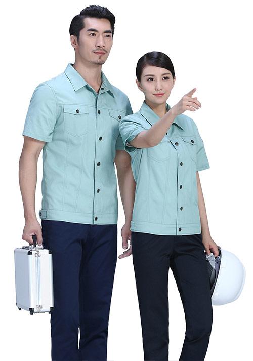 夏季豆绿工作服