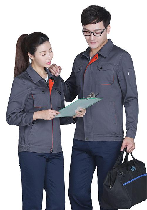 灰色纯棉工作服