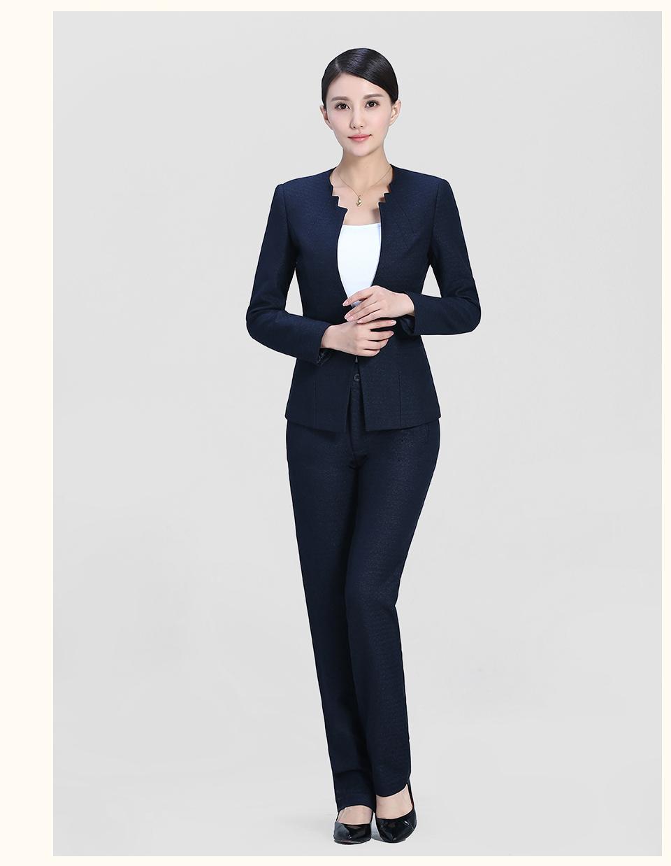 春秋女前台领班收银员短袖西装美容师餐厅经理职业套装