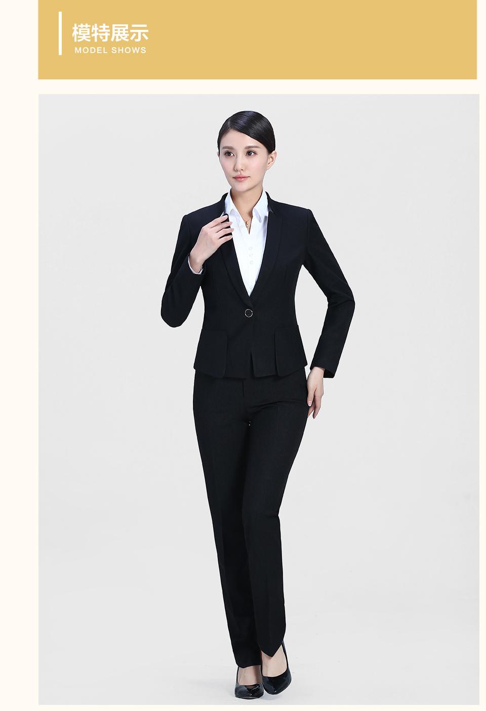 黑色女士修身职业装