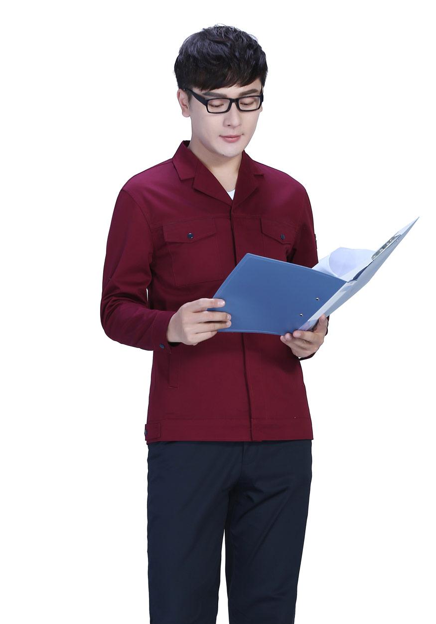 墨绿+深裤春秋工作服FY8001